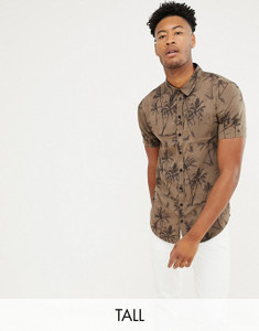 Dark Palm Print Shirt