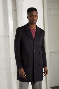 NAVY CHANCE OVERCOAT