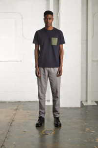 NAVY COTTAM TEE