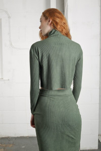 OLIVE CUPOLA SKIRT