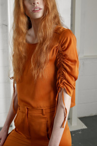 BEAUVALE BLOUSE - RUST
