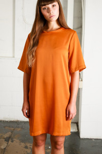 BEAUVALE DRESS - RUST