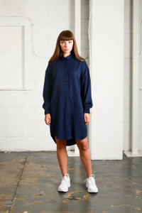 POLITICS DRESS - NAVY