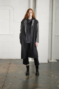 BLACK HARWOOD OVERCOAT