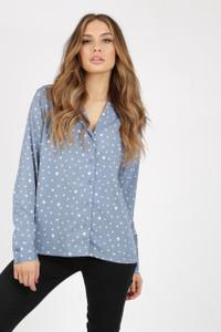 Irregular Spot Pyjama Shirt With Long Sleeves