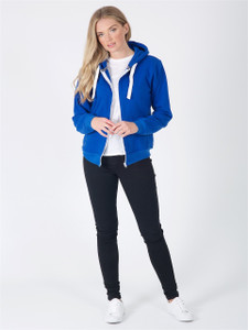 Jersey Zip Hoodie in Royal Blue
