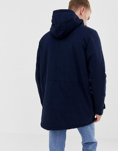 Borg Lined Hooded Parka Jacket