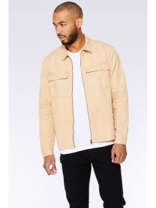 Zip Through Twill Pocket Jacket