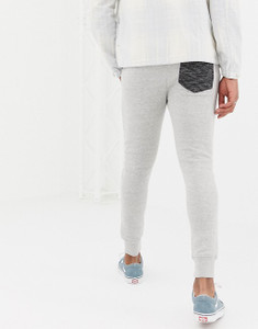 Grey slim Fit Pannel  Jogging Bottoms