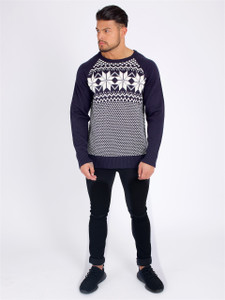 Navy Full sleeve  Isle Knit