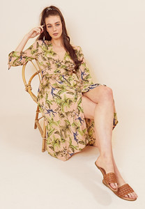 Button Front Monica Monkey Maxi Tea Dress