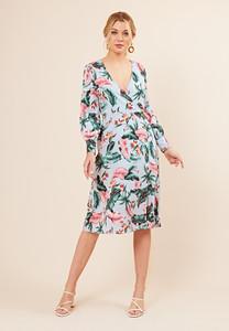 Floral Print Button Detail Midi Dress