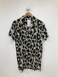Leopard Print Short Sleeves Shirt