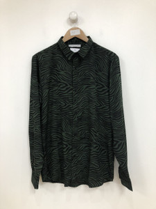 Zebra Print Long Sleeve Shirt