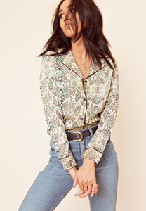 Snake Animal Print Button Down Shirt
