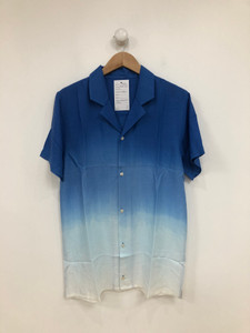 Dip Dye Short Sleeve Revere Collar Shirt