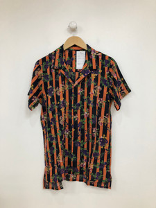 Floral Stripe Revere Short Sleeve Shirt