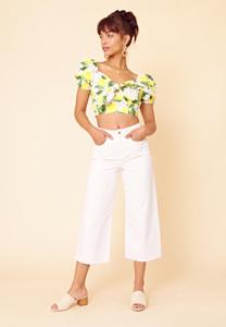 Lolita Lemon Tie Front Crop Top