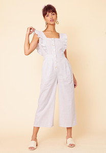 Gingham Ruffle Frill Jumpsuit
