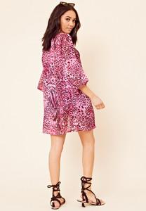 Pink Leopard Print Beach Kimono