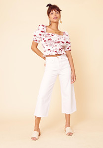 Brigitte Convo Puff Sleeve Crop Top
