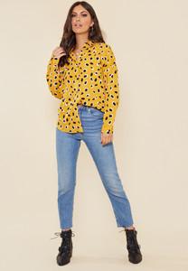 Mustard Large Scale Dalmatian Oversized Shirt