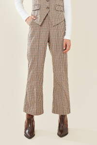 Pow Check Wide Leg Trouser
