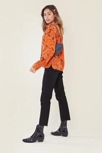 Orange Sketch Horse Relaxed Shirt