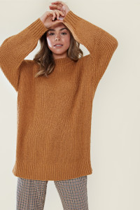 Toffee Ultimate Relaxed Knitted Jumper