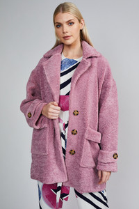 Native Youth Dusty Purple Soft Cotton Teddy Coat