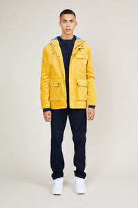Native Youth Yellow Corduroy Zip Front Jacket