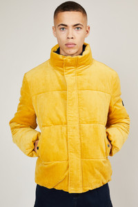 Native Youth Yellow Corduroy Puffer Jacket