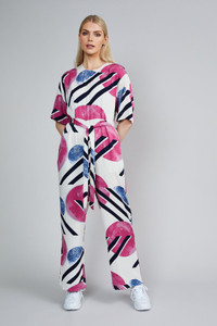 Native Youth Printed Wide Leg Jumpsuit