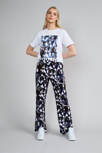 Native Youth Navy Animal Print High Waist Pant