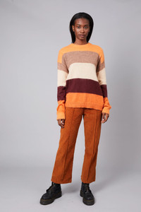 Native Youth Stripe Brushed Wool Mix Knitted Jumper
