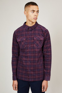 Native Youth Check Corduroy Button Down Shirt