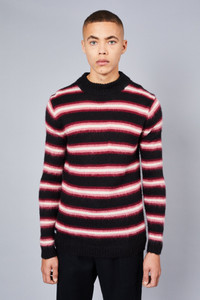 Native Youth Black Fluffy Turtle Neck Sweater