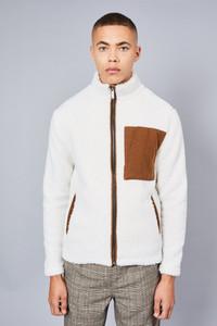 Native Youth White Sherpa Jacket