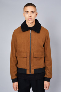 Native Youth Brown Sherpa Collar Jacket