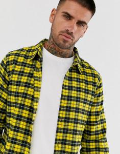 Yellow Regular Fit Long Sleeve Flannel Check Shirt