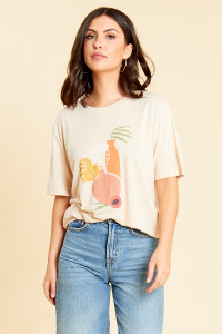 Vase Abstract Printed Tee