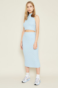 Blue Knitted Skirt