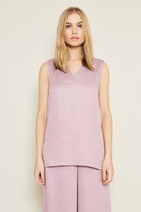 Purple V Neck Sleeveless Top