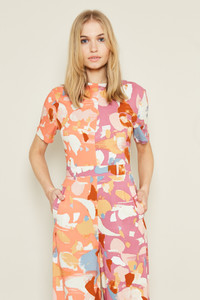 Culotte Jumpsuit With Contrast Mix And Match Print