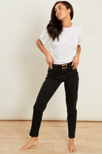 Black Wash High Waist Skinny Jeans