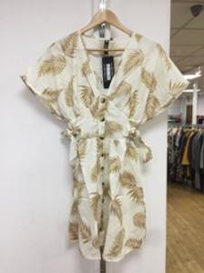 Multi Tropical Print Button Through Dress