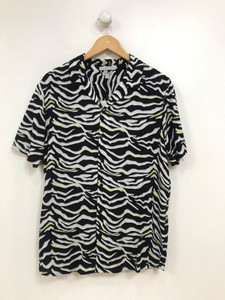 Ladies Neon Zebra Printed Blouse