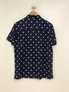 Ladies Navy Polka Dot Blouse
