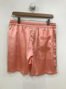 Ladies Pink Satin Co-Ord Drawstring Short