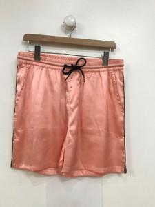 Ladies Pink Satin Co-Ord Drawstring Short